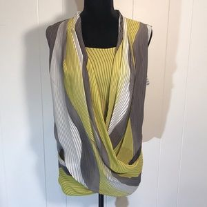 ALFANI Gray/Citron/White/Taupe Sleeveless Top🌟